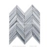 Century Good Price Chevron Clouds Grey Marble Mosaic Tile