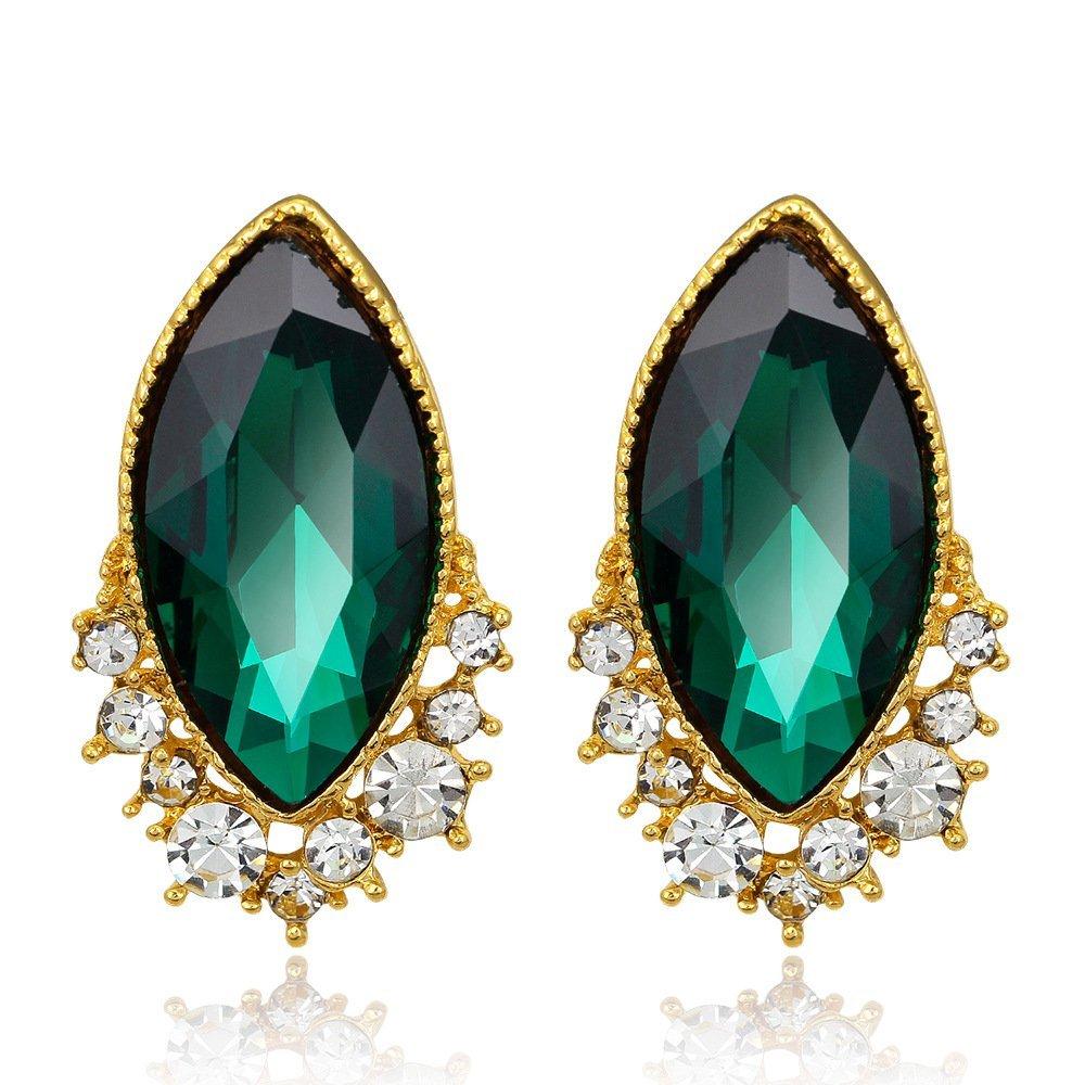 HECHAI_Zircon earrings Lady Joker teardrop-shaped