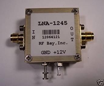 50-1200MH 45dB Gain, NF=2.2dB, LNA-1245, New, SMA