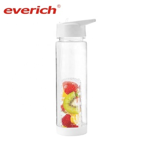 Free Sample 30oz 900ml Sport Fruit Infuser Water Bottle Tritan Fruit Infusion Shaker Infuser Bottle Plastic With Push Lid