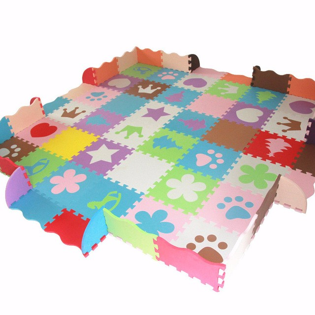 High Quality Red Blue Non Toxic Eva Foam Baby Play Mat