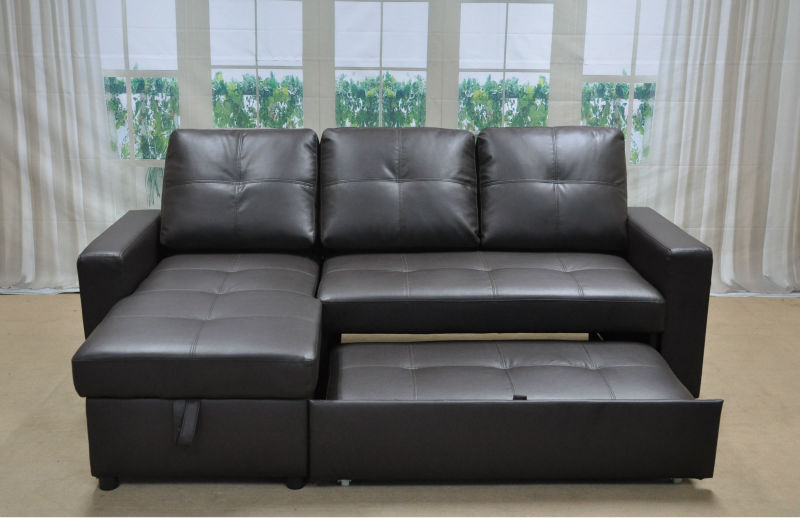 L shaped leather sofa bed free shipping clic coffee color for L shaped sofa bed couch sa