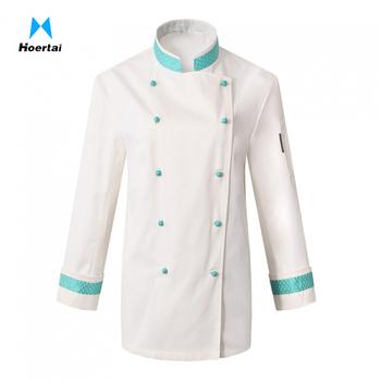 Custom Brand Long Sleeve Chef Coat Uniforms Design For Female