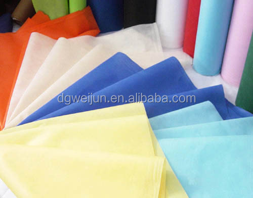 Colorful cambrella fabric ,cross spunbond nonwoven fabric
