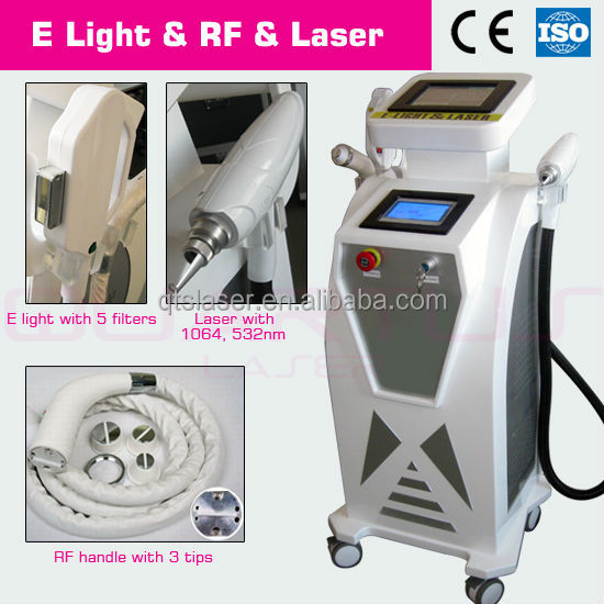 2014 New Skin Rejuvenation/ Hair Removal/Radio Frequency E-Light Machine/1064nm 532nm nd yag laser