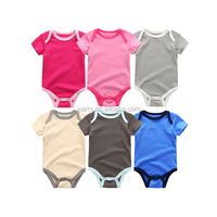 2017 6 colors available organic cotton sleeveless plain baby rompers baby clothes clothing bodysuits custom blank baby onesie