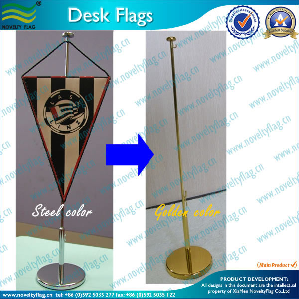 cheap custom table flag with plastic stand/metal stand/wooden