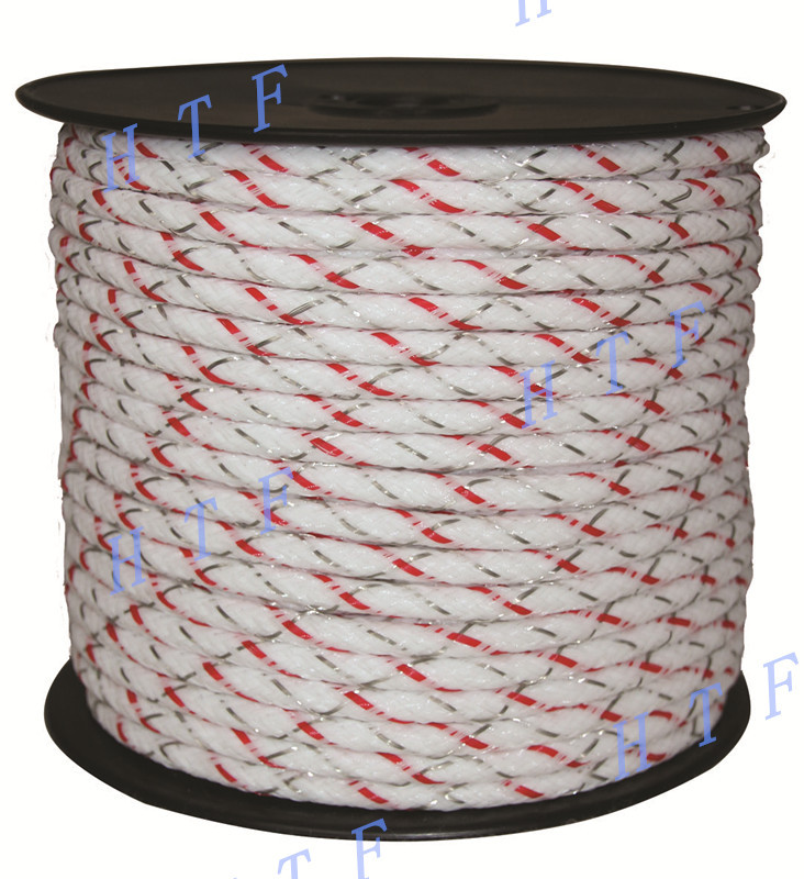 Outdoor fence for horse electric braided poly rope