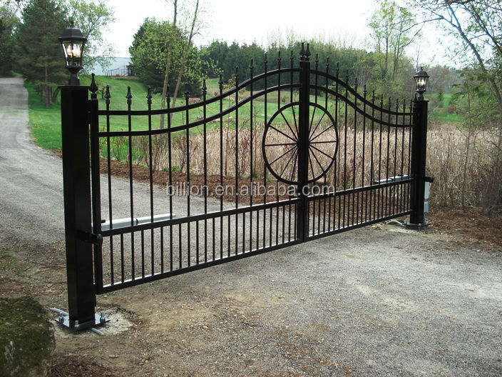 Hot Sale Wrought Iron Entrance Swing Gates For Home Buy
