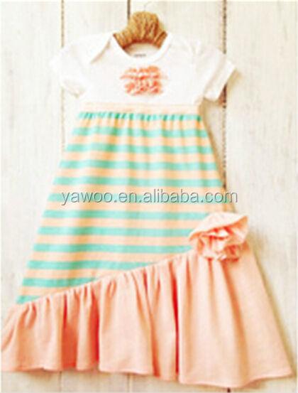 cfbc56a5c Latest Fashion Girls Dresses Summer 2014 Stripes Cotton Peasant Baby ...