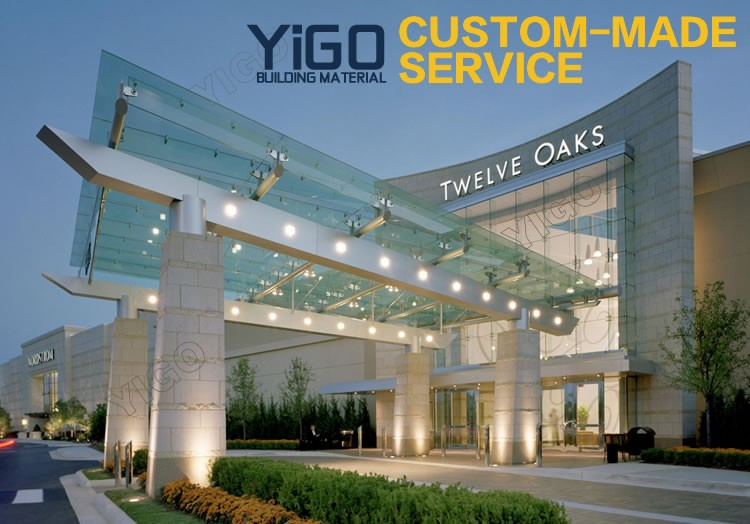 Outdoor Tempered Glass Canopy