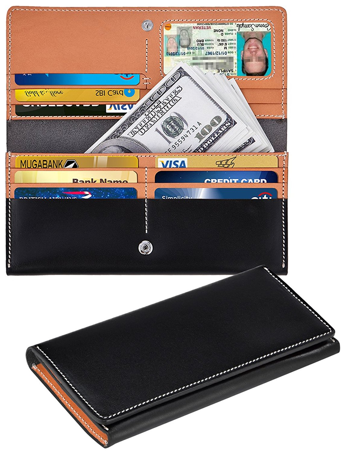 37ca2e593798b Get Quotations · Leather Long Wallet