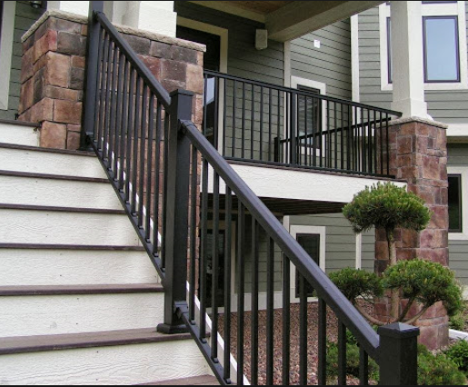 Outdoor used wrought iron stair railing wholesale price Wrought iron hand railings exterior