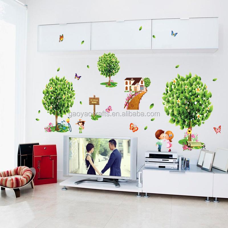 Venta al por mayor paisajes vinilo para pared compre for Pegatinas para habitaciones