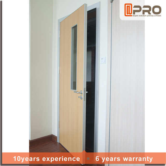 Powder Coating Waterproof Extruded Exterior Aluminum Hinged Frame Entry  Security Double Swing Door For Office
