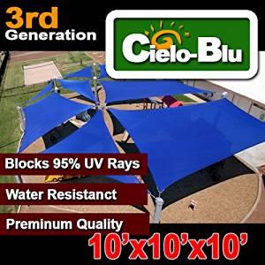 3rd Generation 10u0027x10u0027x10u0027 triangle outdoor sun sail shade canopy cover-choose (10X10x10 Blue)  sc 1 st  Alibaba & Buy The Green 10x10 Shade Tech Ii Shade Tech Ii St64 Instant ...