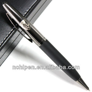 2016 Company year end gift gun black classical senior black pen stamp with custom logo service