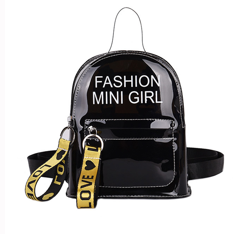 Hot selling fashion clear transparent pvc jelly bagpack backpack <strong>school</strong> girls