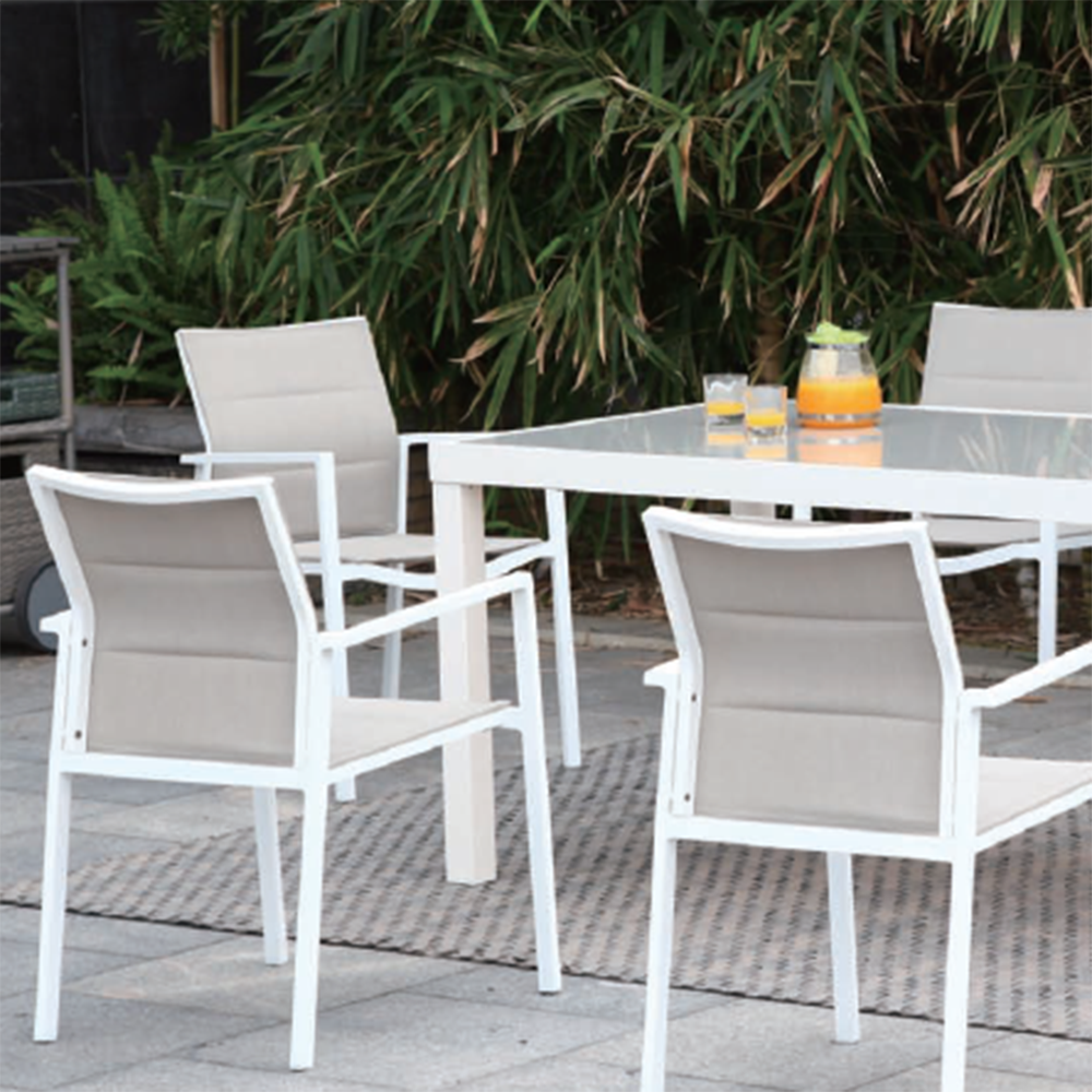 Groovy Fashion White Powder Aluminum Outdoor Garden Furniture Terrace Table And Chair Restaurant Buy Table And Chair Restaurant Terrace Table And Interior Design Ideas Apansoteloinfo