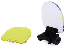 CS Hunting Durable Foldable Protective Lens Cover Scope Sight Lens Protector Flexible Yellow White Quickly Detach