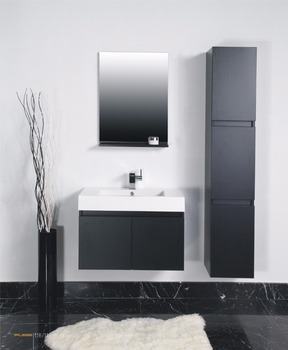 China Suppliers Simple Bathroom Furniture Sanitary Cabinet Vanity With Melamine Board And Mirror