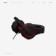 Wired Headset Gaming Stereo Bass Headphone, LED Light Gaming Headphones Bass Vibration Headset with Sound Card