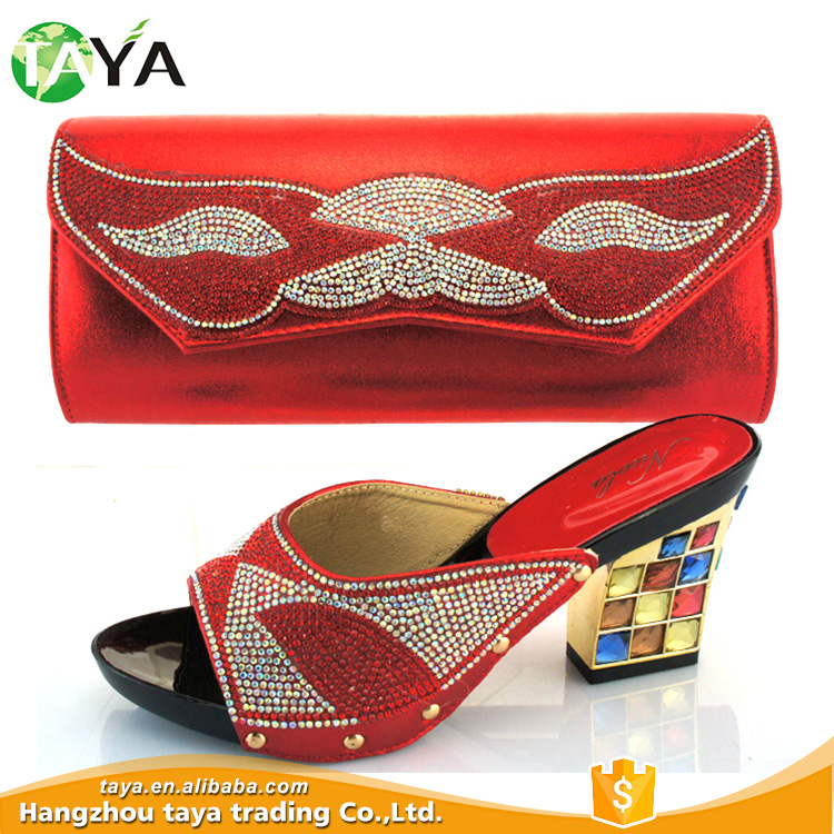 bag woman italian bag match hot New and shoes party fashion set slipper design shoes XnqfwEERgY
