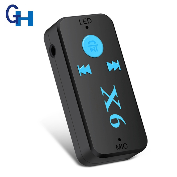 2018 X6 New Model 3.5MM Bluetooth Audio Adapter Bluetooth Receiver with TF card for car for Home Stereo Sound System