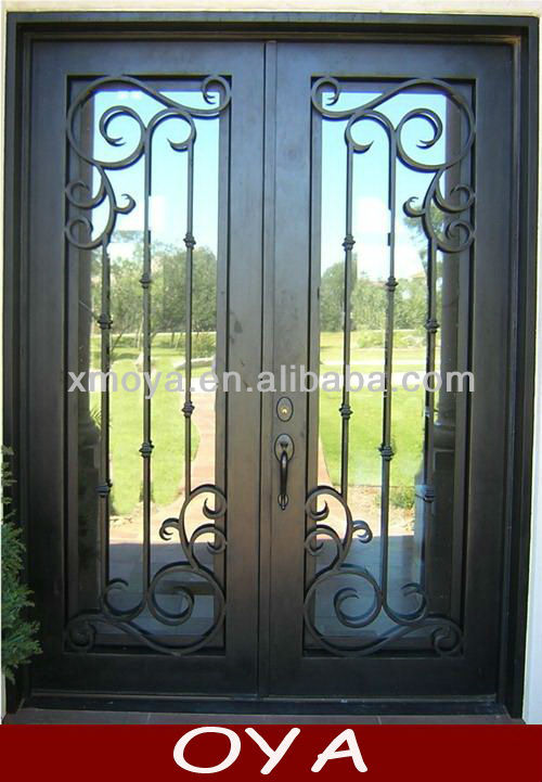 Three Panel Sliding Glass Door Leaded Glass French Doors Metal Door