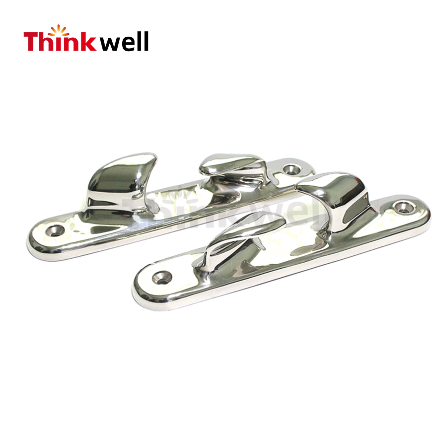 "6/"" Polished Stainless Steel Straight Chocks"
