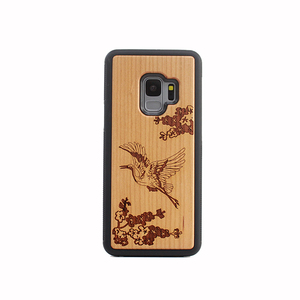 Mobile Cell Phone Case Accessories,Laser Engraving Real Wood Phone Case For Samsung Galaxy S9 Mobile