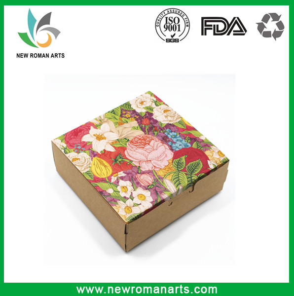 Kraft Paper Flower Printing Box Event Favors Small Gift Candy Soap Paper Boxes Jewelry Craft Paper Box