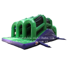 Inflatable Running Obstacle Assault Courses 72ft Triple Tunnel Inflatable Obstacle Course for Sale