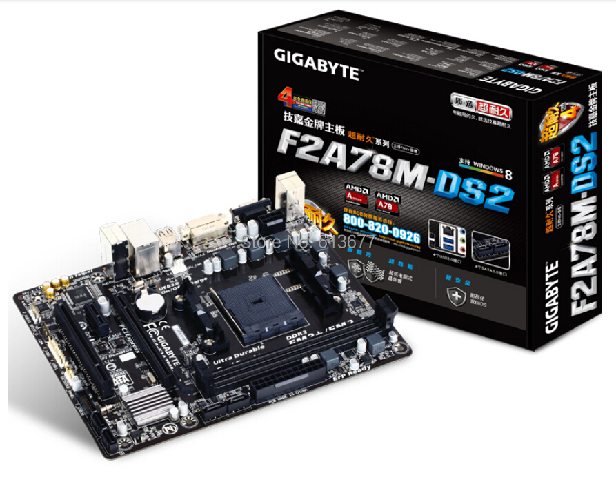 Buy 100% original new desktop motherboard Gigabyte GA-F2A78M