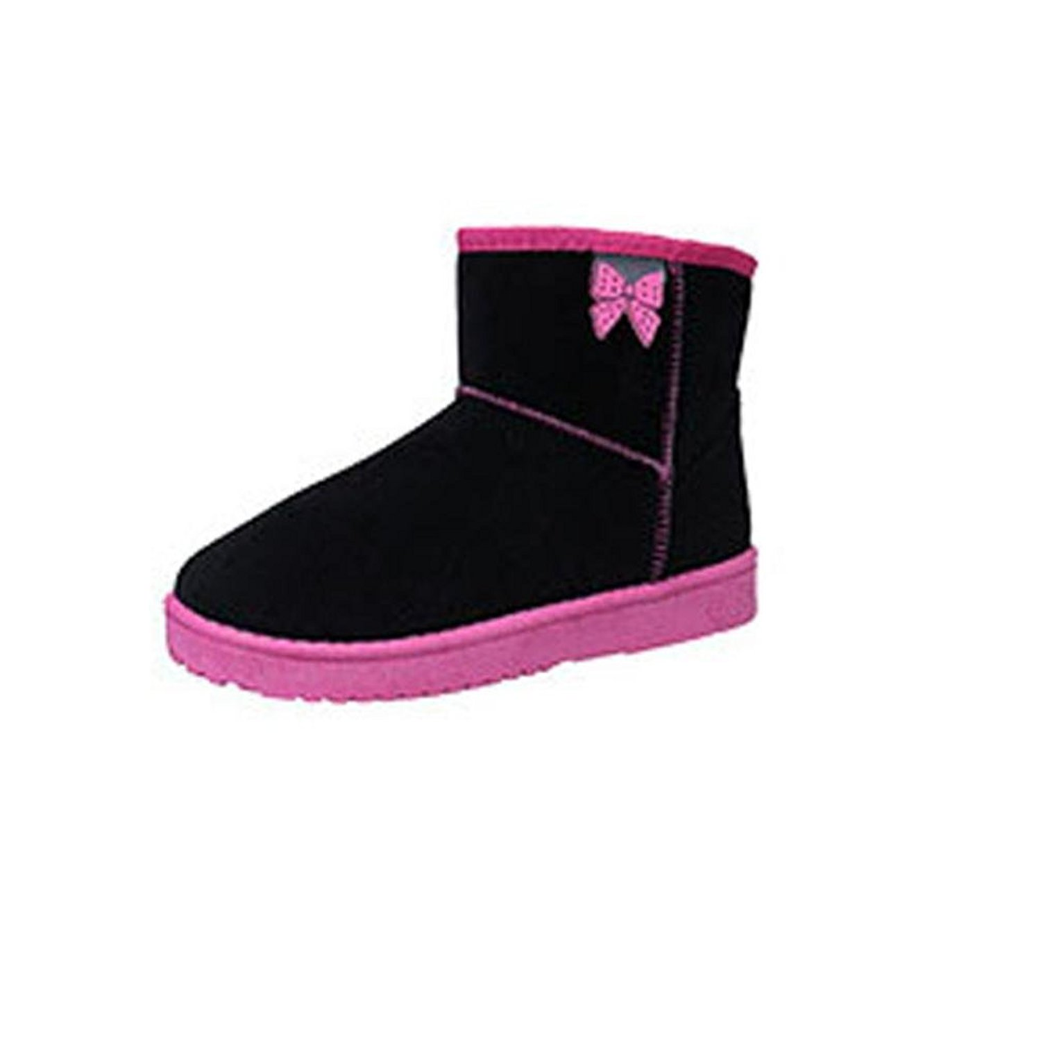 DEESEE(TM) Women Ankle Boots Fur Lined Winter Autumn Warm Snow Boots Shoes (US 5.5, Black)
