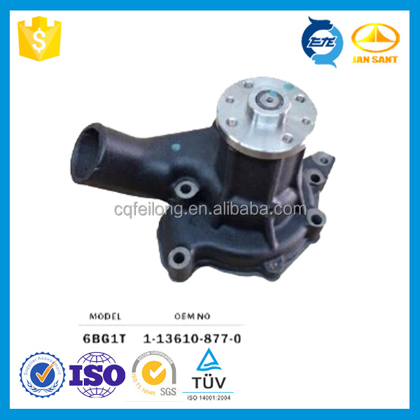 Auto Motor Water Pump Assembly For 6BD1,6BD1T,1-13610-877-0