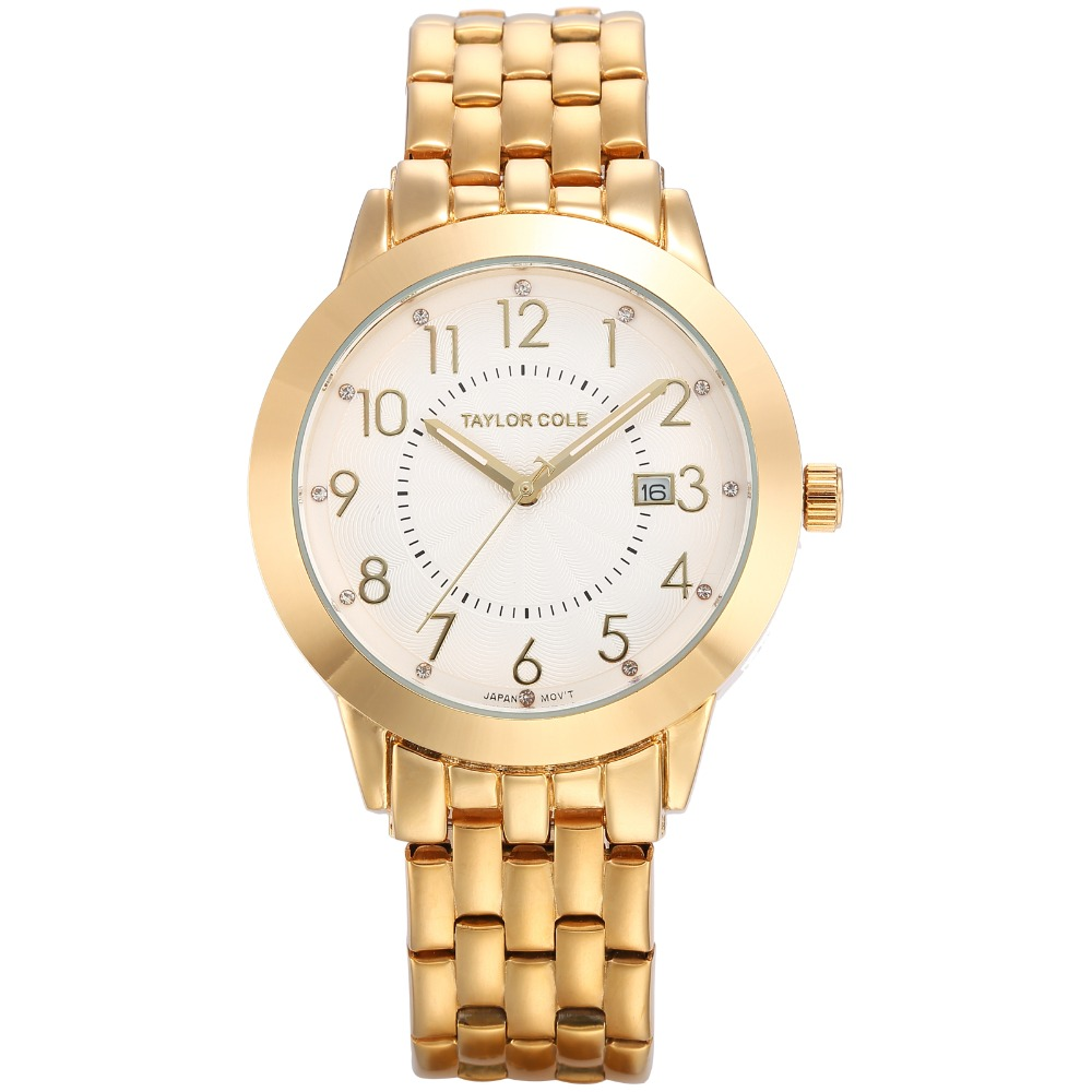 Taylor Cole Fashion Japan Quartz Auto Date Fancy Lady Analog Watch