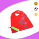 Strawberry foldable tote bags, folding 190T fabric shopping bag
