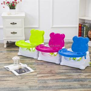 Plastic comfortable booster seat folding kids dining chair feeding chair for baby