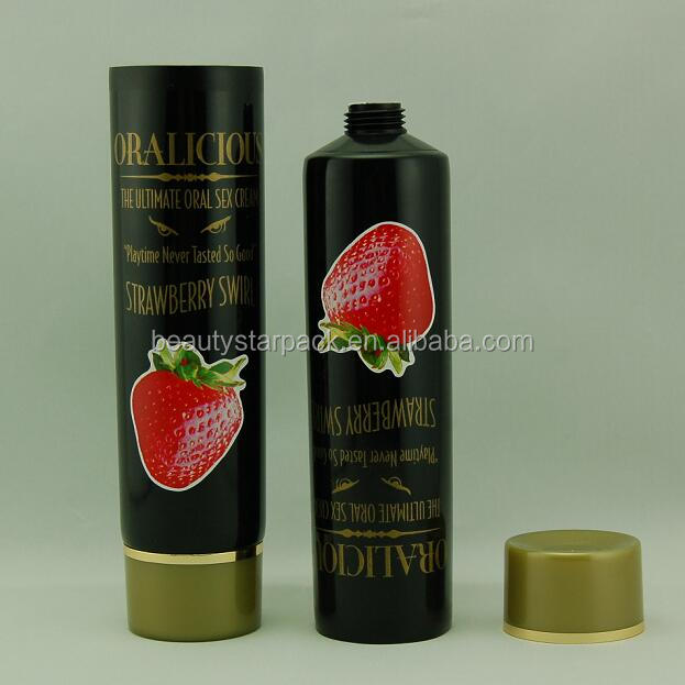 Black plastic shower gel packing tube/soft cosmetic tube packing with screw cap