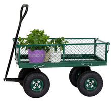 Heavy duty beach wagon 4 wheels utility outdoor garden trolley / garden tool cart / garden cart