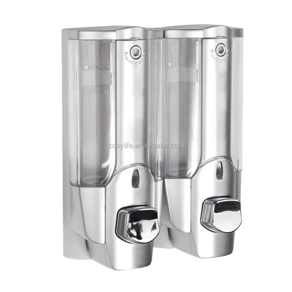 Champ acondicionador gel de ducha doble pared dispensador for Dispensador de jabon para ducha