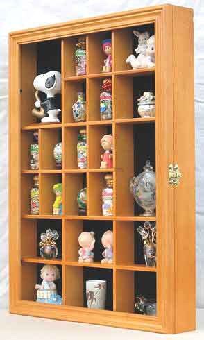 Collector Figurine Display Case Small Wall Curio Cabinet