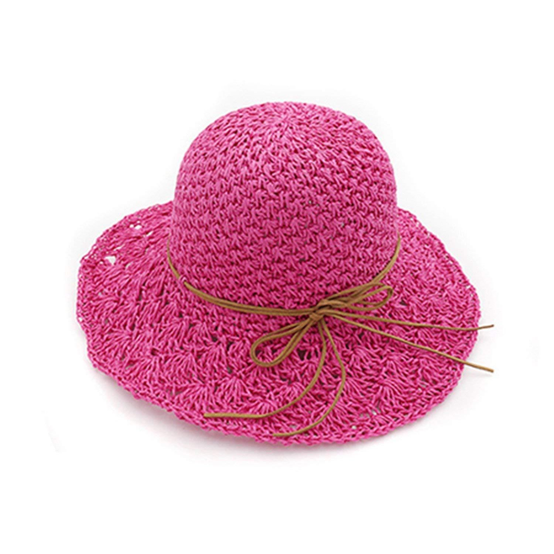 spyman Handmade Crochet Soft Fold Straw Sun Summer Hats for Women Girls Chapeau Femme Beach Hat Drop Shipping