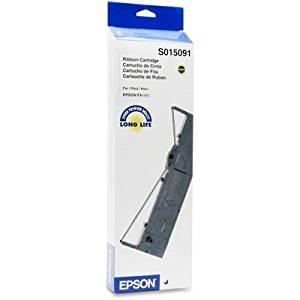 Epson Black Ribbon Cartridge - Black - Dot Matrix - 7500000 Character - 1 Pack