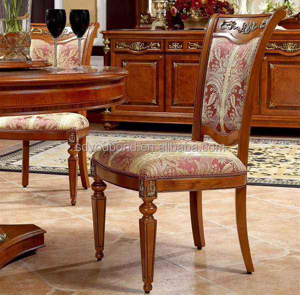 Beech Wood Carving Furniture Classic Wood Dining Table