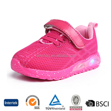 cheap oem design baby girl christmas style leather led winter sports walking shoes snekaers
