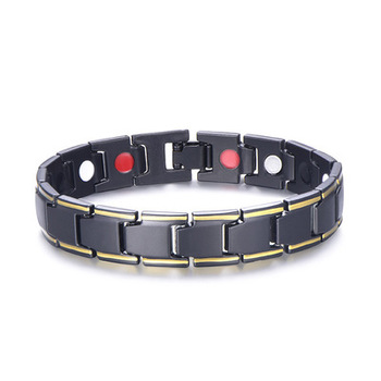 KY001 Hematite magnetic bracelet gold-plated silver health bracelet wholesale