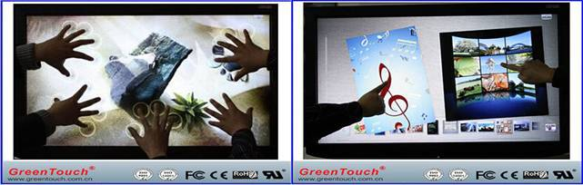 GreenTouch 65 inch multi touch screen ir led strip for monitor