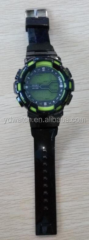 Plastic watches with electronic movement in high quality YD0334